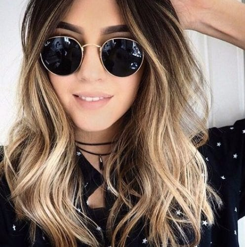 hipster balayage hair color