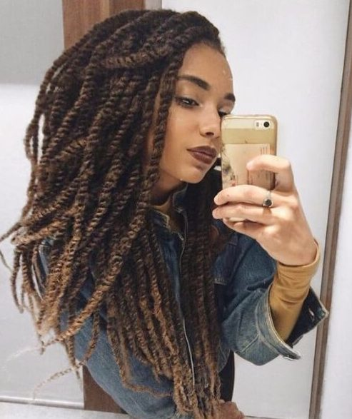 45 Cool Kinky Twist Hairstyles to Try This Summer - My New Hairstyles