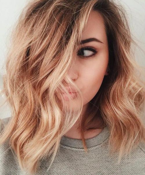strawberry balayage hair color