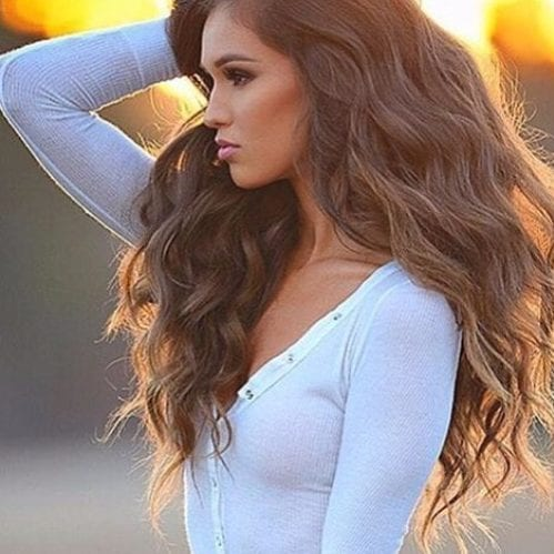 puesta de sol balayage color de pelo