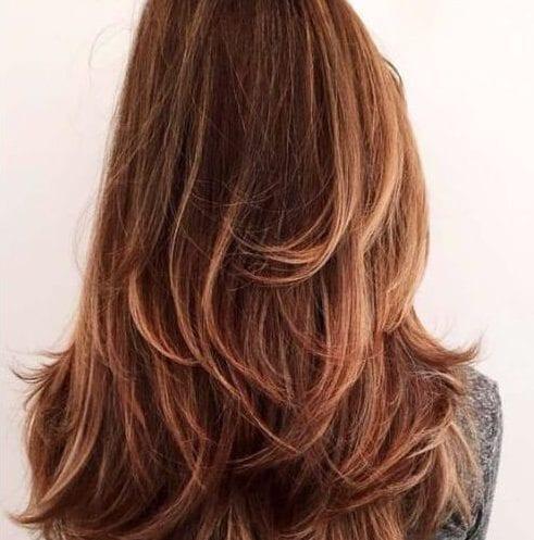 dulce canela cortes de pelo en capas