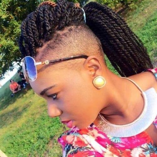 undershave kinky twist hairstyles