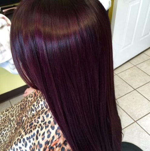Blackberry plum hair color