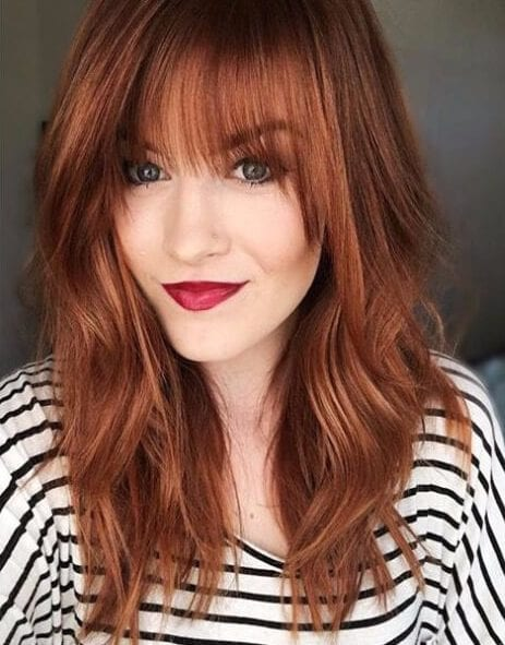Red copper fall hair colors