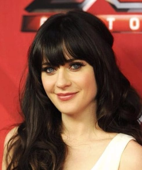Zooey Deschanel hairstyles with bangs