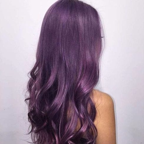 antique fuchsia plum hair color