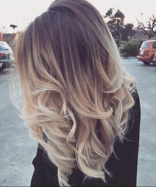 brunette to blonde balayage