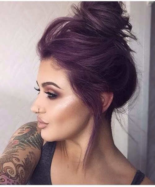 dark mauve plum hair color