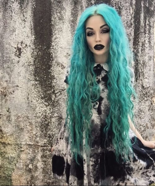 goth doll teal hair color