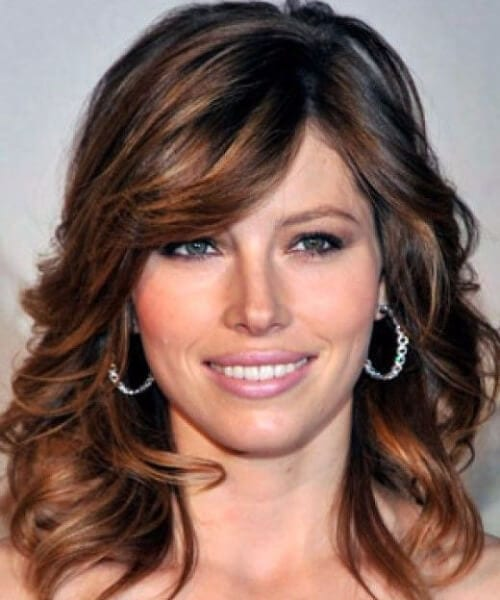 jessica biel hairstyles with bangs