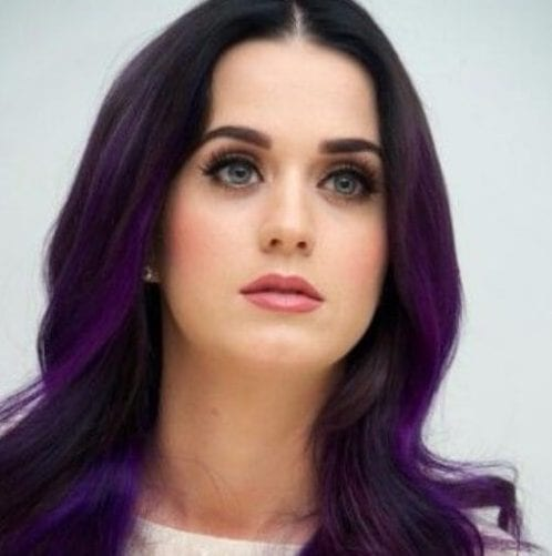 katy perry plum hair color