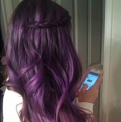 lavender plum hair color