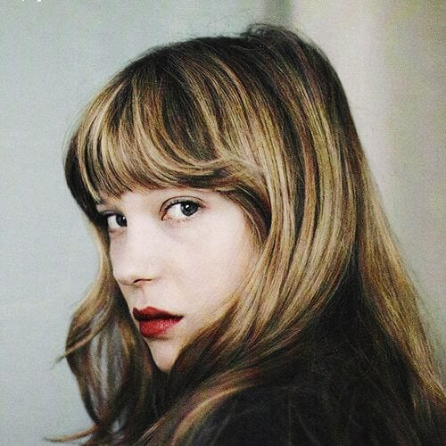 lea seydoux brown hair with blonde highlights