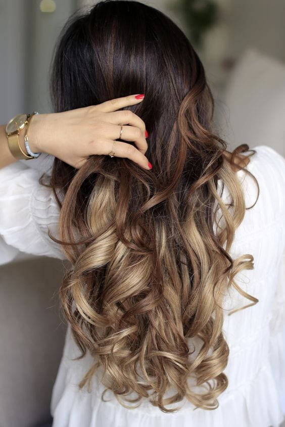 nutmeg blonde ombre brown hair with blonde highlights