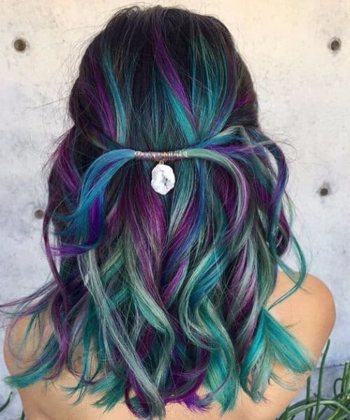 Refreshing Teal Hair Color Ideas My New Hairstyles - Peacock hairstyle color