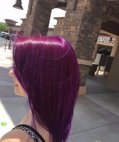 red and purple plum hair color