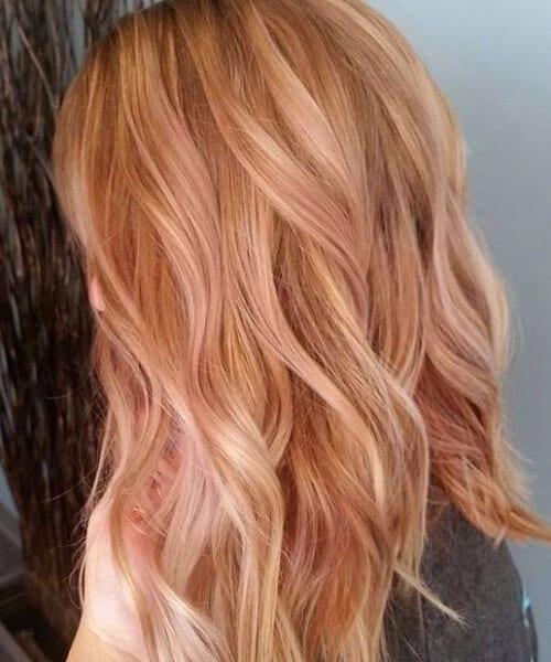 rose gold blonde balayage