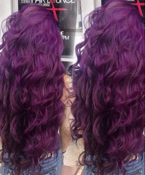 tyrian purple plum hair color
