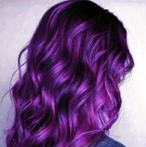 violet plum hair color