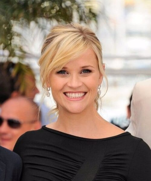 Reese Witherspoon side swept bangs