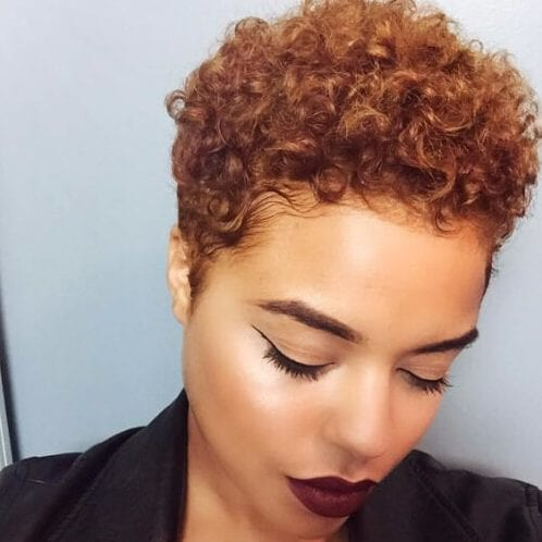 afro short hairstyles for thick hair