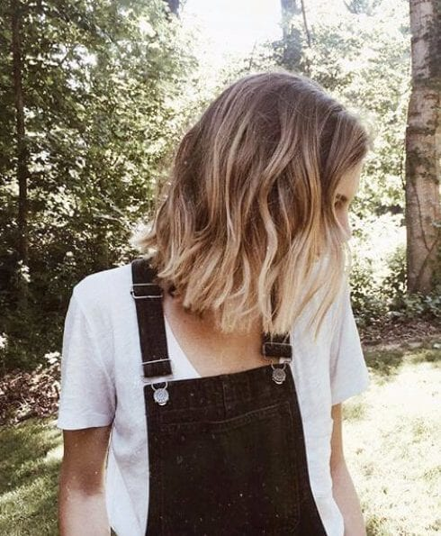 basic blonde short hair ombre