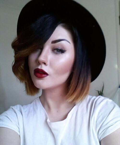 great short hair ombre options