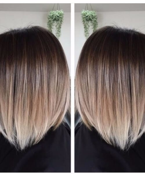 evening shadow short hair ombre