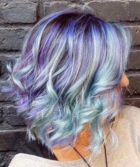 fantasy pastel short hair ombre