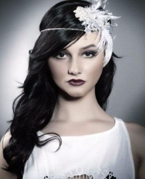 flapper wedding hairstyles for long hair