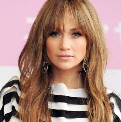 jennifer lopez long hair with bangs