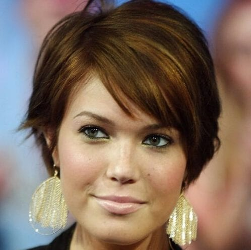mandy moore short hairstyles for thick hair