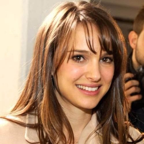 natalie portman long hair with bangs
