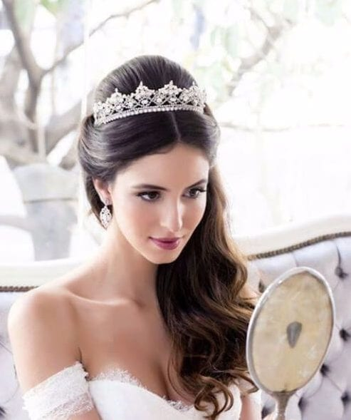 princess wedding hairstyles for long hair
