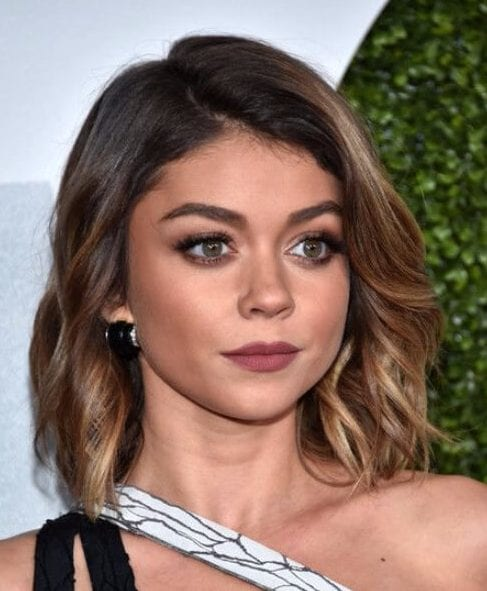 sarah hyland short hair ombre