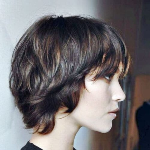 shaggy long pixie short hairstyles for thick hair