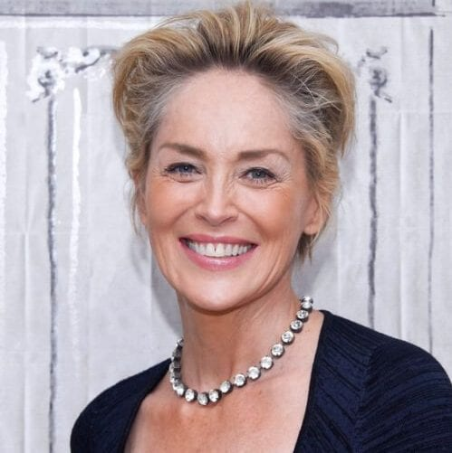 sharon stone hairstyles for women over 60