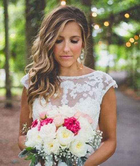 simple side swept wedding hairstyles for long hair