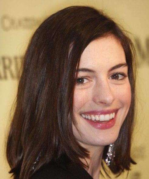 Anne Hathaway Long Bob: 50 Long Bob Haircuts We Adore
