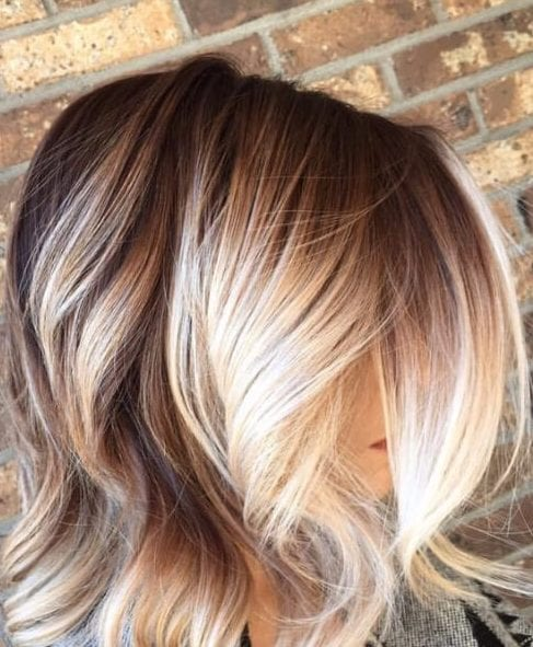 balayage short hair blonde from fall to winter