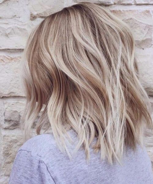 balayage short hair blonde white honey