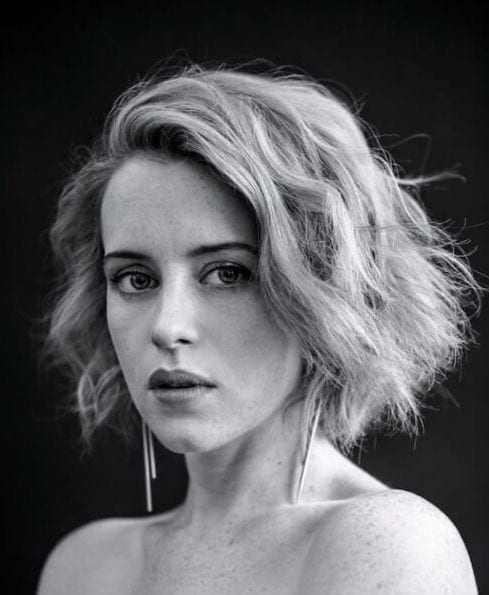claire foy layered bob
