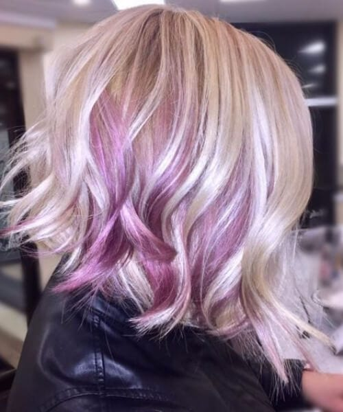 lilac balayage short hair