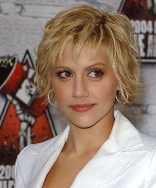 brittany murphy short hair with bangs