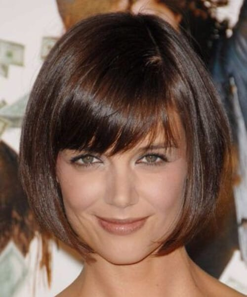katie holmes short hair with bangs