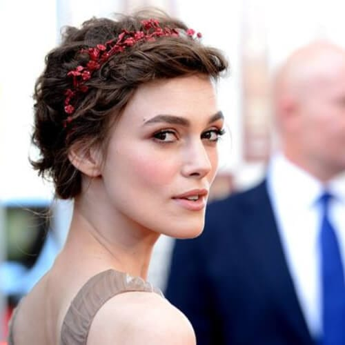 Keira Knightley prom hairstyles for short hair