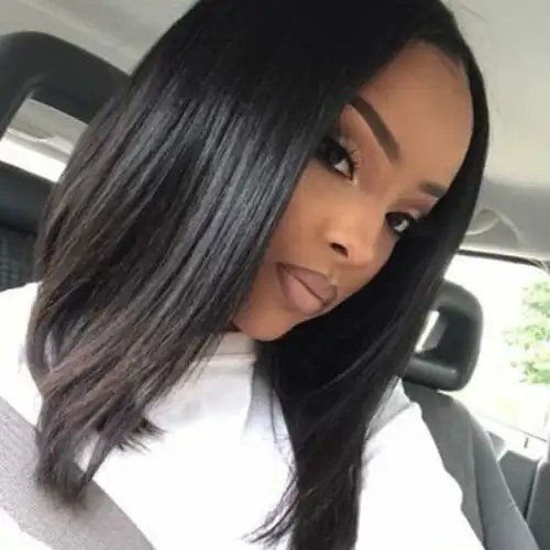 a line bob hairstyles for black women