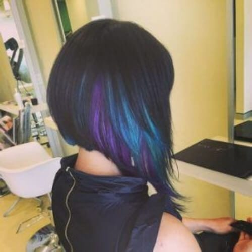 Purple Peekaboo Highlights Black Girl Www Picswe Com