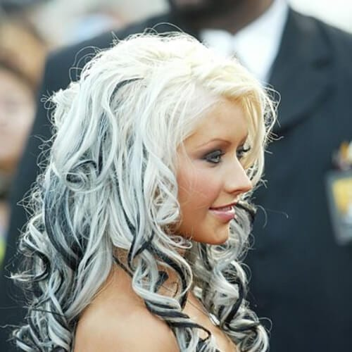 christina aguilera long curly hairstyles