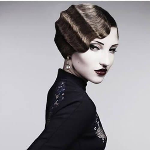 finger waves prom hairstyles for short hair